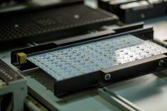 LED光生产 电路板的图象 库存照片
