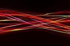 从LED光的被弄脏的抽象线 免版税库存图片