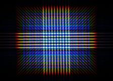 LED列阵光的绕射图的照片,包括很大数量的衍射顺序 免版税图库摄影