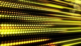 LED在黄色的光条纹的录影动画-金的抽象背景 向量例证