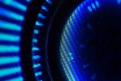 LED显示的发光二极管 数字式LED屏幕背景 图库摄影