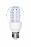 LED电灯泡查出白色 免版税库存照片
