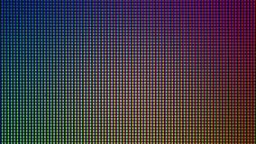 从LED电视或显示器屏幕显示的特写镜头LED二极管 库存照片