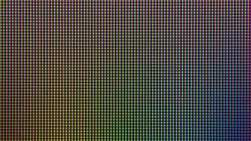 从LED电视或显示器屏幕显示的特写镜头LED二极管 库存图片