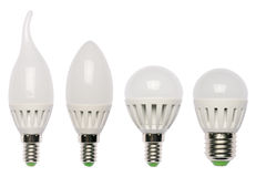 LED节能电灯泡。 发光二极管。 免版税库存照片