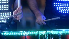 LED鼓手执行 影视素材