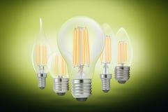 LED细丝电灯泡 免版税库存图片
