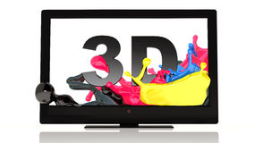LED 3D TV Stock Photography