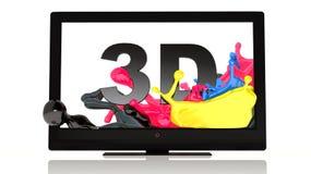 LED 3D TV Fotografia Stock