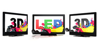 LED 3D TV Stock Image