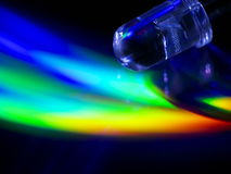 LED abstraction 2. Transparent light-emitting diode (LED) on abstract color background Stock Image