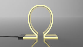 LED Acrylic technology concept design 3d rendering Royalty Free Stock Photo