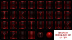 Led Alphabet Stock Image