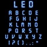 Led alphabet blue Royalty Free Stock Images
