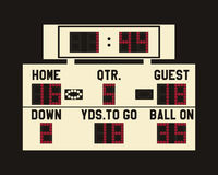 LED american football scoreboard  Royalty Free Stock Photography