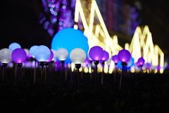 LED balls and lights royalty free stock photo