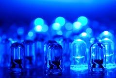 LED blu Fotografia Stock Libera da Diritti