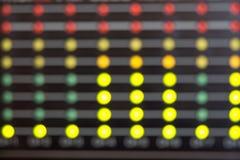 LED& borroso x27; indicadores de s Imágenes de archivo libres de regalías