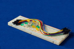 Led on breadboard Stock Photography