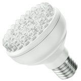 LED bulb. Energy efficient LED bulb isolated on a white background. 3D render royalty free illustration