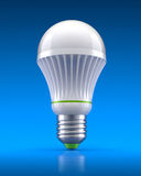 LED bulb. On gradient blue background - 3D illustration Royalty Free Stock Photos