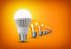 Led bulb stock illustration