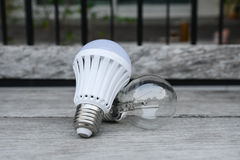 LED bulb and Incandescent bulbs Royalty Free Stock Photo
