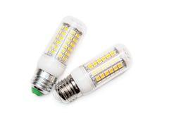 LED Bulb isolated on white Stock Photos
