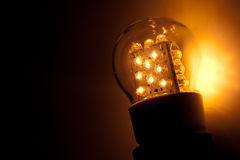 Led bulb light. With copy space for any text royalty free stock photography