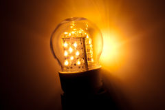 Led bulb light Stock Images