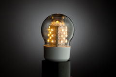 Led bulb light Royalty Free Stock Image