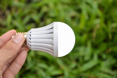 LED Bulb with lighting Royalty Free Stock Images