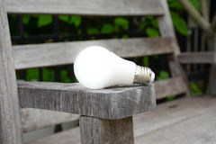 LED bulb with lighting - New technology of energy Stock Photo