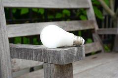 LED bulb with lighting - New technology of energy Stock Photo