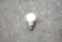 LED Bulb with lighting - Save lighting technology - Zoom out Royalty Free Stock Photos