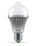 LED bulb with PIR motion sensor Stock Image