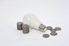 LED Bulb - Saving energy Royalty Free Stock Photo