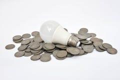 LED Bulb - Saving energy Stock Photo
