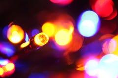 LED bulbs. Close up of blinking LED bulbs royalty free stock photos
