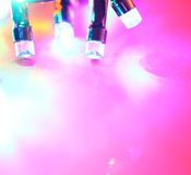 LED bulbs. Close up of blinking LED bulbs royalty free stock image