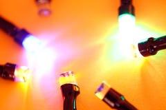 LED bulbs. Close up of blinking LED bulbs stock photo