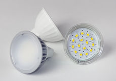 Led bulbs closeup. Stock Photo