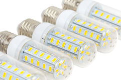LED bulbs - corn Stock Image