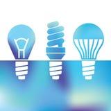 LED bulbs - Light bulbs - fluorescent light bulb royalty free illustration