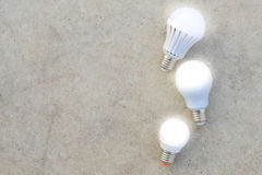 LED Bulbs with lighting Royalty Free Stock Photography