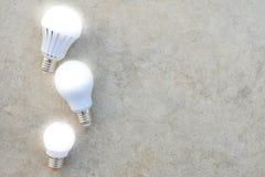 LED Bulbs with lighting Stock Photo