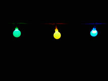 Led bulbs in the night Stock Images
