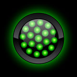 LED button. Green LED button. No transrapency Stock Image