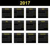 2017 LED Calendar Stock Images