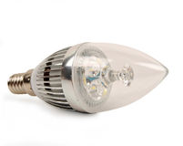 Led candle light bulb Stock Images